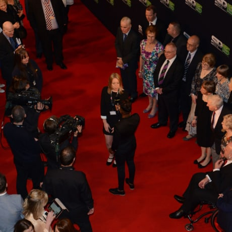 Roscoe leads the Red Carpet at SPOTY