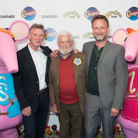 Stars line the blue carpet for the launch of Clangers
