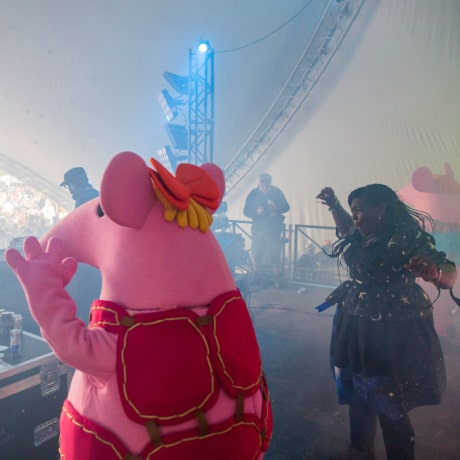 Clangers celebrates 50th Anniversary at Bluedot Festival 2019